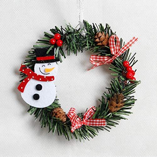 Pendant & Drop Ornaments - Snowman Christmas Deer Cloth Art Wreath Rattan Reed Garland Decoration Ornaments 1pc Party Home - Large Christmas Garland Wreath Decor Christmas Ornaments Gree