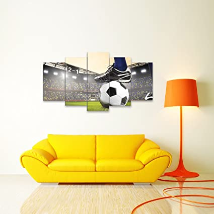 Amazon.com: Wall Art Canvas Painting Canvas Art Soccer Match ...