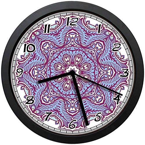 - BCWAYGOD Pink and Purple Paisley Mandala Style Flower Icon Round 12