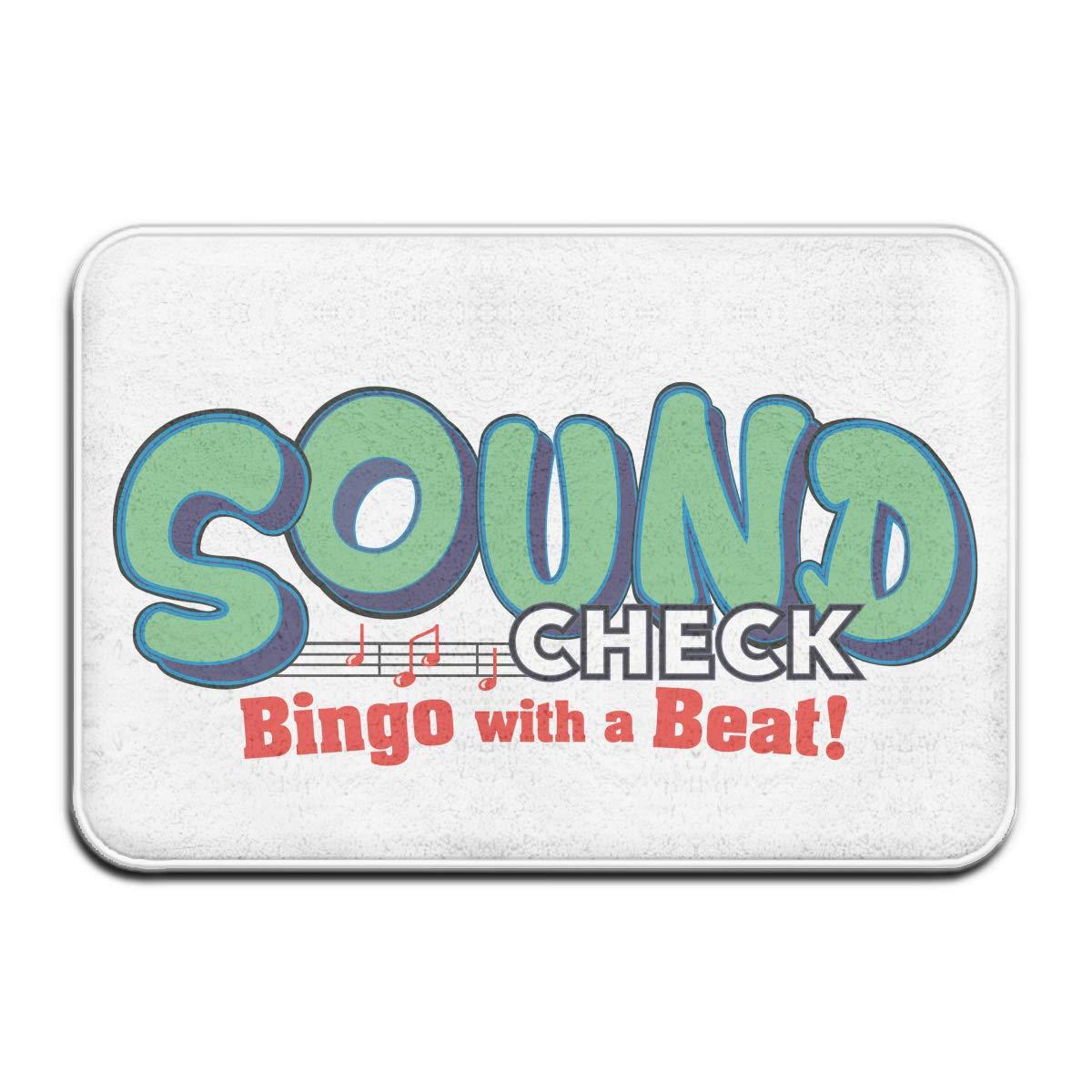 YS25 Bathroom Rug Mat Contour Rug Toilet Floor Rug Flannel Bath Shower Mat Sound Bingo Beat Square Carpet
