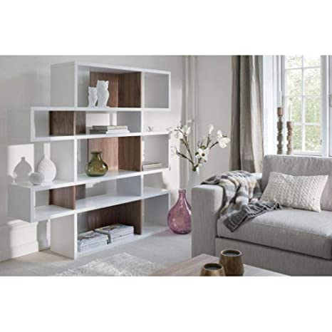 Tema Home London Biblioteca Design 5 Niveles Blanca con ...