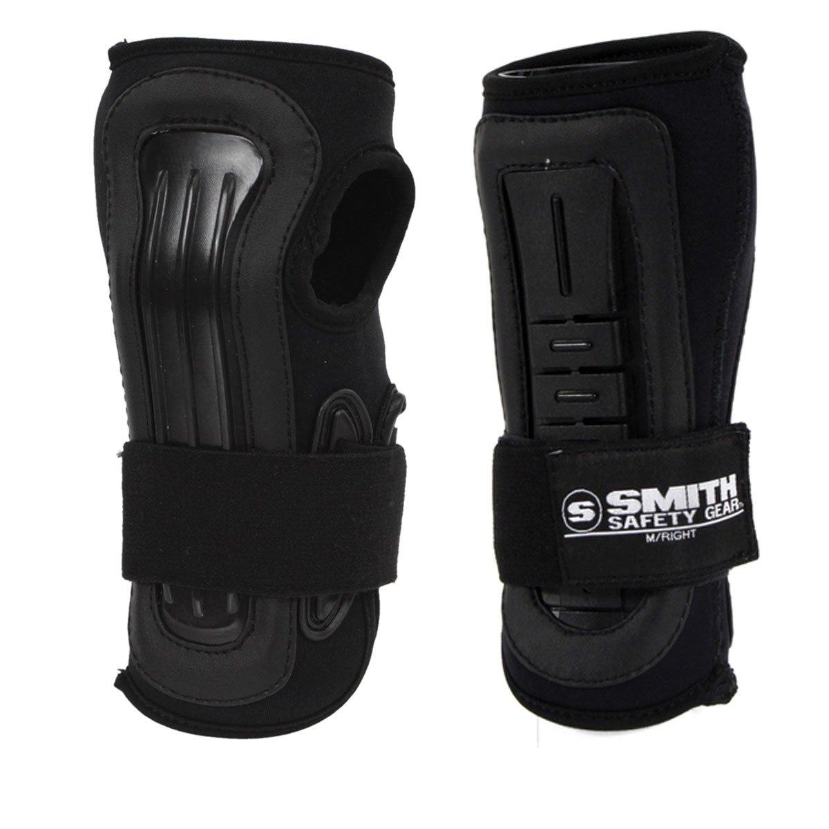 Smith Safety Gear Scabs Pro Wrist Stabilizer, Black/Black, Large