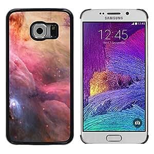 FECELL CITY // Duro Aluminio Pegatina PC Caso decorativo Funda Carcasa de Protección para Samsung Galaxy S6 EDGE SM-G925 // Space Nebulae Sky Majestic Universe Stars