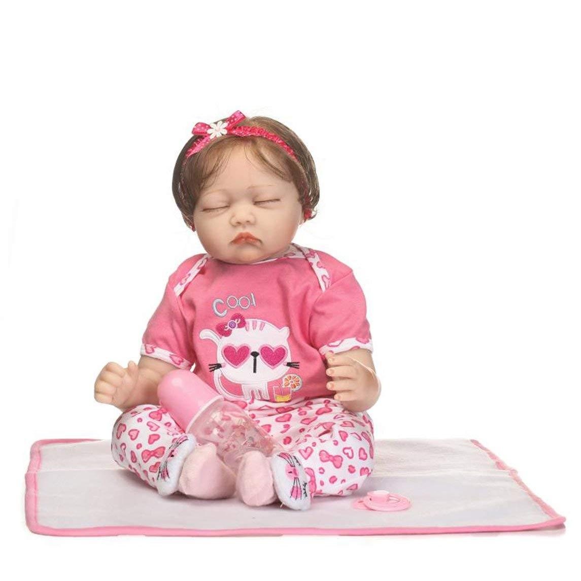 Footprintes 55cm Ganzkörper Weich Silikon Vinyl Babypuppe ungiftig Sicheres Spielzeug Handgemachtes Lebensechtes Neugeborenes Baby Puppe Spielzeug Playmate Baby Doll