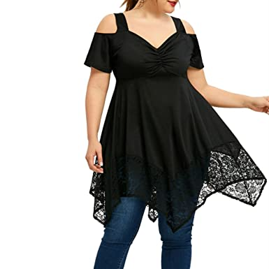 purchase cheap db902 e1d4d MEIbax Camicetta Donna Nera/Bluse e Camicie Donna Eleganti Taglie  Forti/Camicetta Manica Lunga/Camicia in Pizzo/Top Donna Sexy Prospettiva  Cime ...