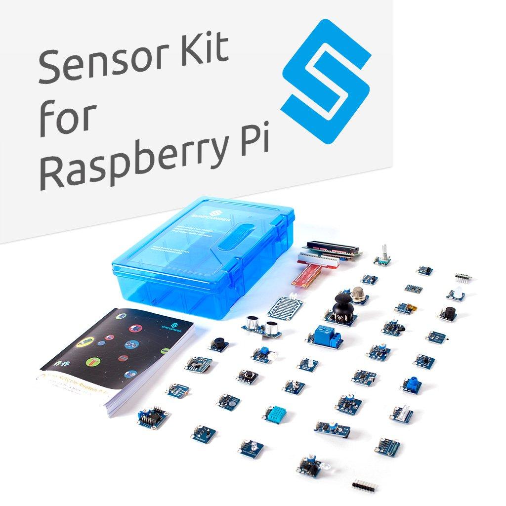 Sunfounder Raspberry Pi 3 Model B 37 Modules Sensor Kit Hc Sr04 Wiringpi V20 For Rpi 2b A Zero Included Computers