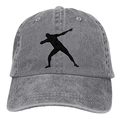 Bolt Hat (Huagestroe Usain Bolt Silhoutte 1c Cowboy Hat Rear Cap Adjustable Cap)