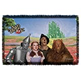 WIZARD OF OZ/EMERALD CITY - WOVEN THROW TAPESTRY 36X60 - White - ONE SIZE by Trevco