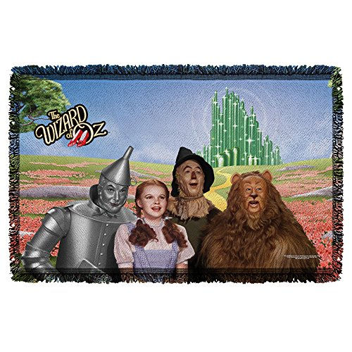 WIZARD OF OZ/EMERALD CITY - WOVEN THROW TAPESTRY 36X60 - White - ONE SIZE by Trevco by Trevco