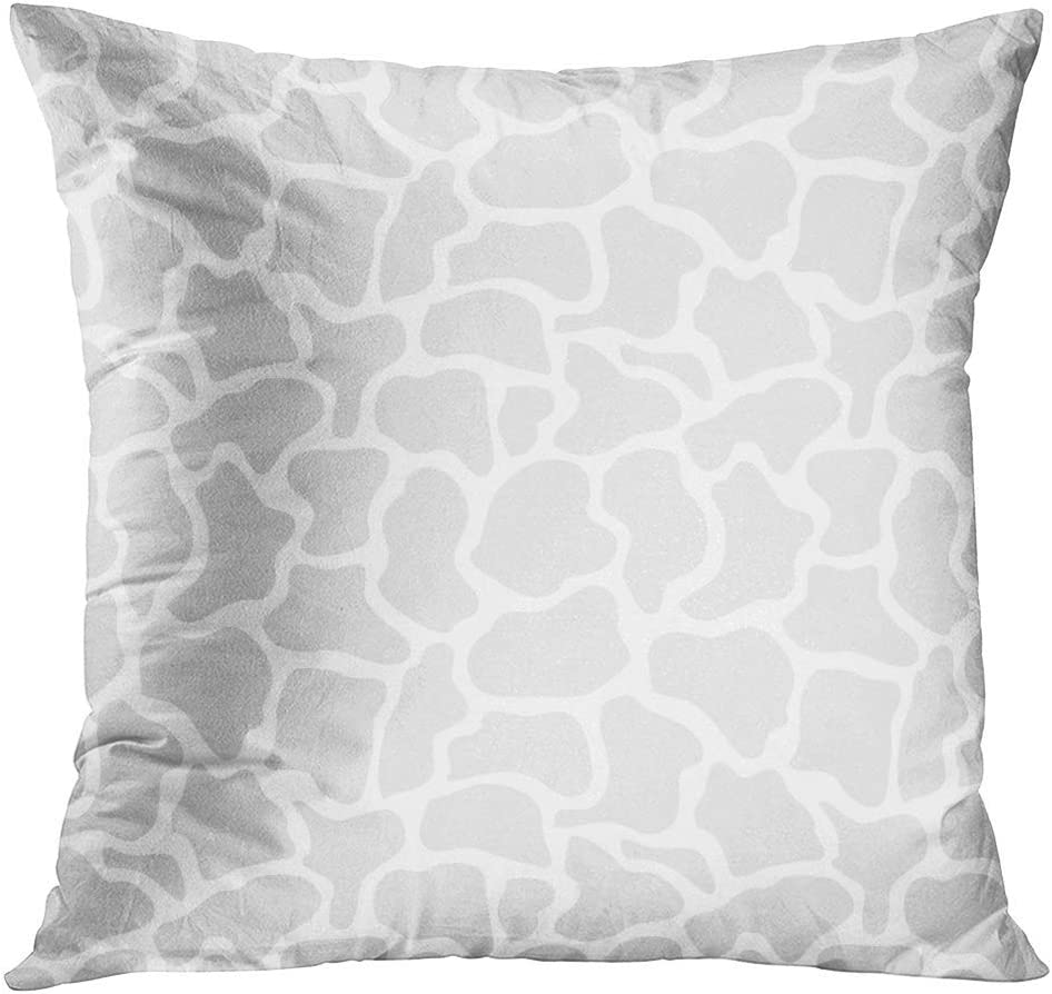 Jbralid Gray Africa Giraffe Light Grey Abstract Safari Collection African Animal Blot Ceramic Chick Pillow Cover Hidden Zipper Cotton Indoor Throw Pillow Case Cushion 24x24 In Home Kitchen