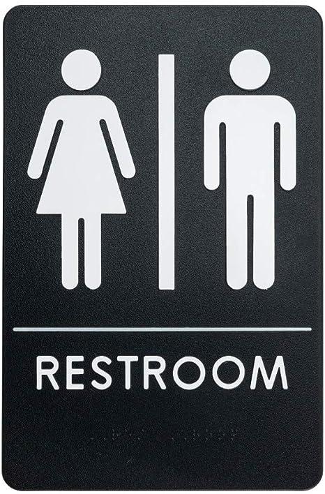 Amazon.com: Señal de baño unisex para personas con ...
