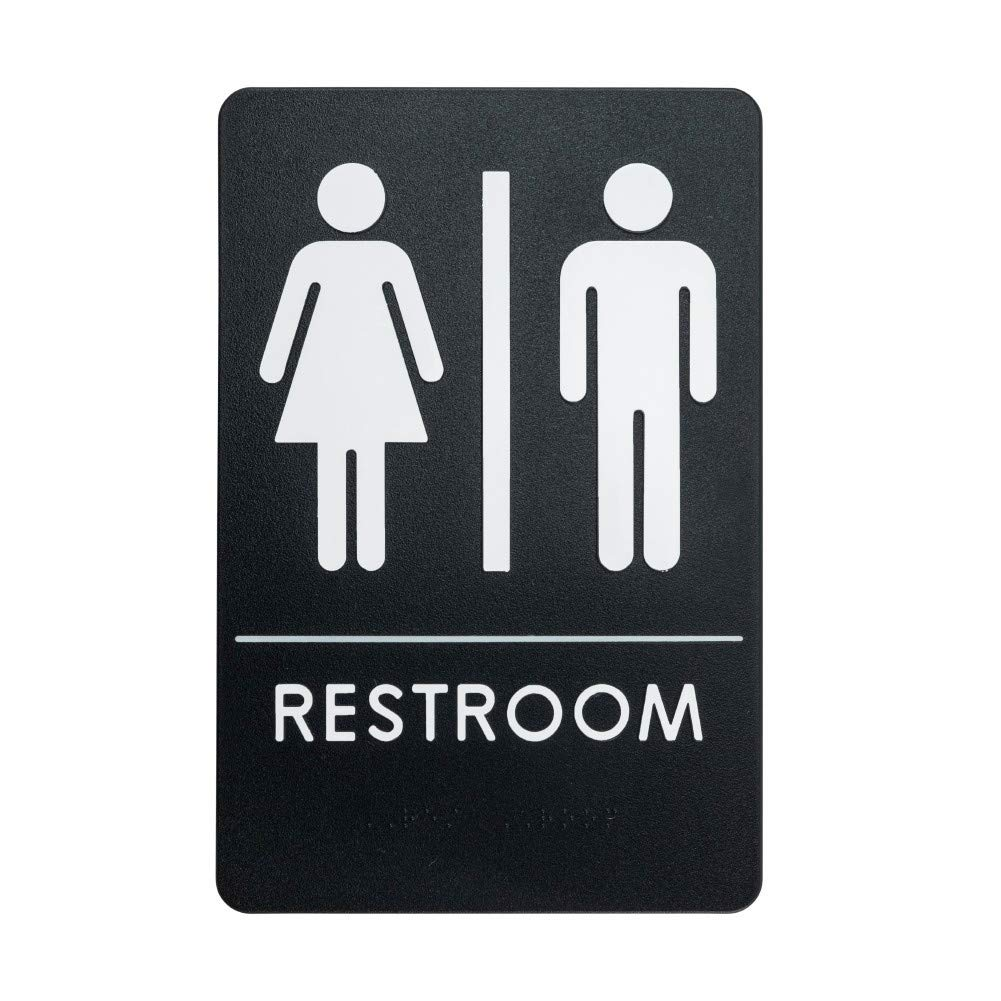Rock Ridge Unisex Restroom Sign Black/White - ADA
