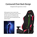 AKRacing Core Series EX-Wide Gaming Chair with Wide Seat, High and Wide Backrest, Recliner, Swivel, Tilt, Rocker and Seat Height Adjustment Mechanisms with 5/10 warranty - Black/Red