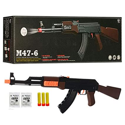 IndusBay® 24 Inches Army AK 47 Toy Gun 2 in 1 Water Crystal and Soft Dart  Bullet - PUBG Sub Machine M16 AKM Toy Gun - for Kids