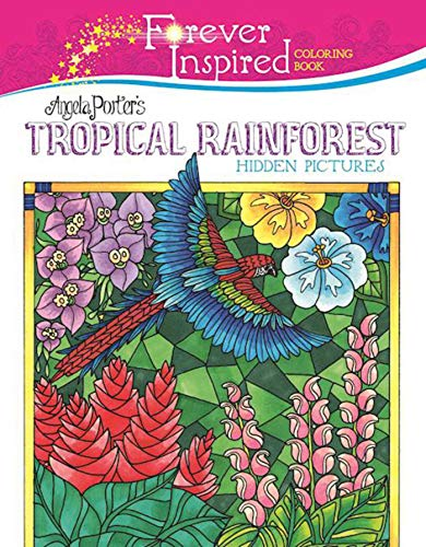 Forever Inspired Coloring Book: Angela Porter?s Tropical Rainforest Hidden Pictures (Forever Inspired Coloring Books) ()