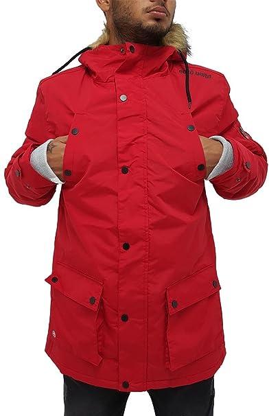 Ecko - Chaqueta - Parka - para Hombre Rojo Rosso Medium: Amazon.es: Ropa y accesorios