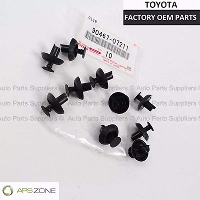 Amazon.com: Genuine Toyota Lexus Scion OEM 90467-07211 Bumper, Radiator, Cover Grille Clips set 10: Automotive