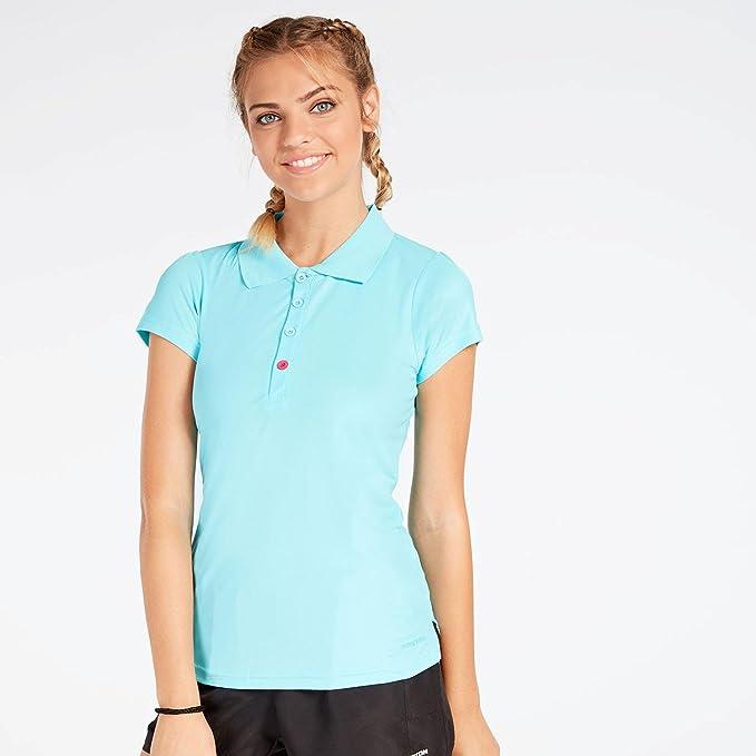 Polo Tenis Azul Celeste Mujer Proton (Talla: L): Amazon.es ...