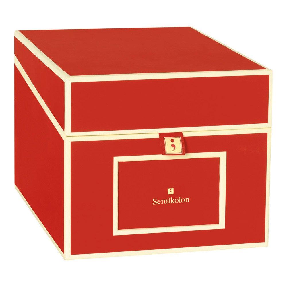 Semikolon Multimedia CD/DVD/Photo Storage Box, Red (31804)