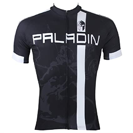 87fe372e2 Paladin Cycling Jersey for Men Short Sleeve Remy Martin Pattern Black Bike  Shirt Size M