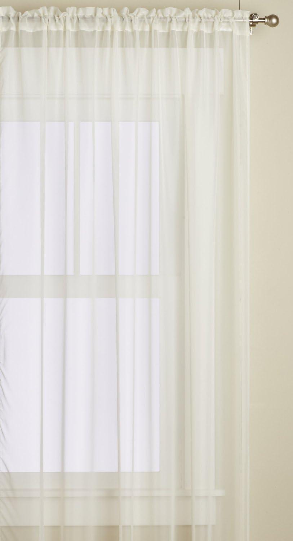 Editex Home Textiles Monique Sheer Window Panel, 55 by 95-Inch, Beige