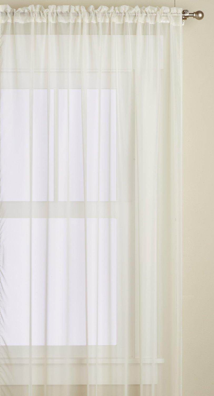 Editex Home Textiles Monique Sheer Window Panel Beige 55 by 95-Inch