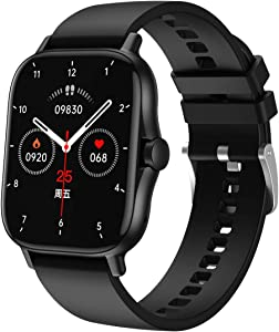 ATGTGA Smart Watch for Android/iOS Phone(Receive/Make Calls,1.63Inch,Bluetooth) 10+Sports Mode, Fitness Tracker with,Stress Monitor,Cardio Watch for Women Men