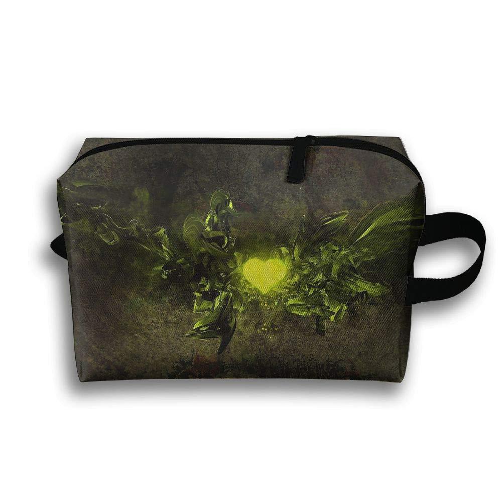 Bright Love Background Cosmetic Bags Makeup Organizer Bag Pouch Zipper Purse Handbag Clutch Bag