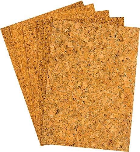 Korkpapier, A5, 5 verschiedene Muster, 15 Stück