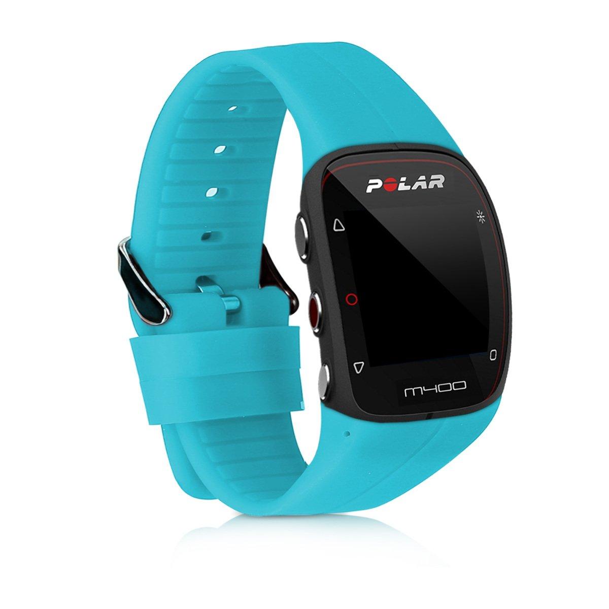 kwmobile Pulsera para Polar M400 / M430 - Brazalete de Silicona en Azul Claro sin Fitness Tracker