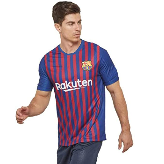 f24a2ce69b44 Step Shoes Unisex Poly Cotton Barcelona Football Jersey with Shorts (Red  Blue