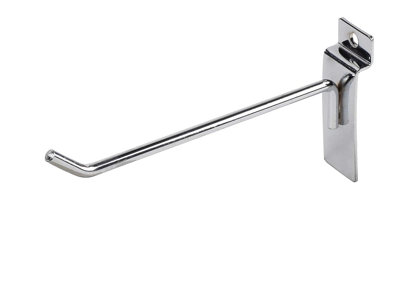 Single Rod Heavy Duty Metal Slatwall Hooks 12-Pack 4-Inch and 6-Inch Assorted Slatwall Display Hooks for Panel For Retail Display Juvale Slatwall Hooks