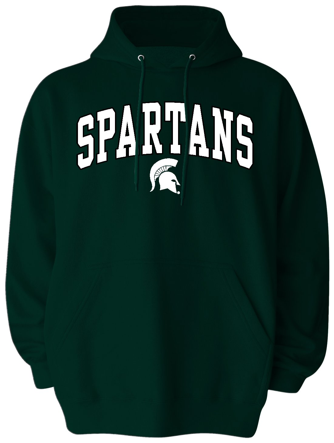 NCAA Michigan State Spartansメンズビッグプルオーバーパーカー、3 x l、Spartanグリーン   B0734TM8NM