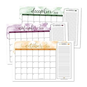 Amazon.com: Planificador de escritorio o calendario de pared ...