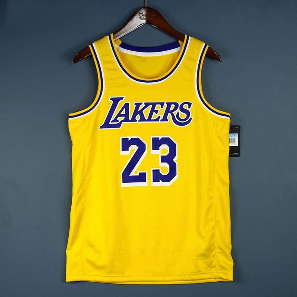 Oquta Lebron James en LA Lakers # 23 Camiseta de Baloncesto Amarillo Negro Blanco p/úrpura XS a XXL