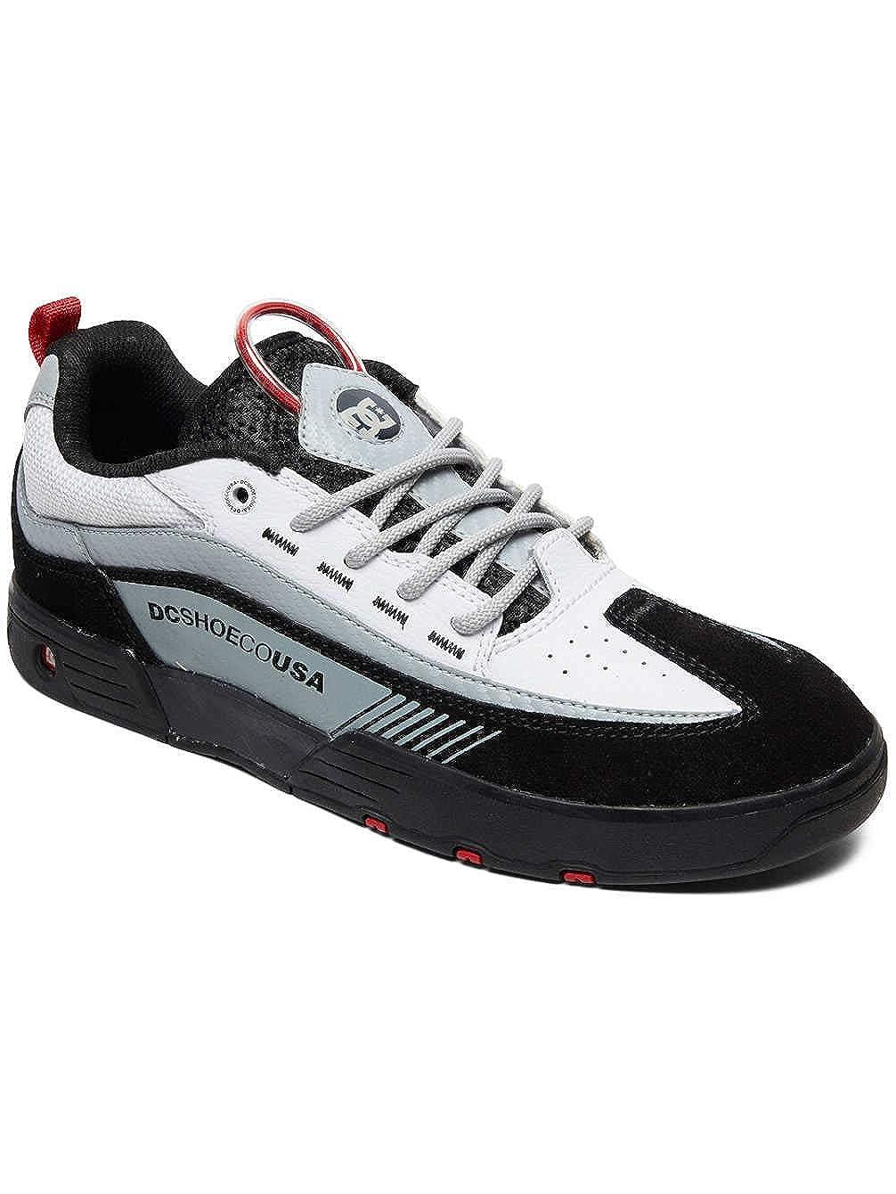 af91bc0a3b7f9 Amazon.com: DC Black-White-Red Legacy 98 Slim Shoe: Shoes