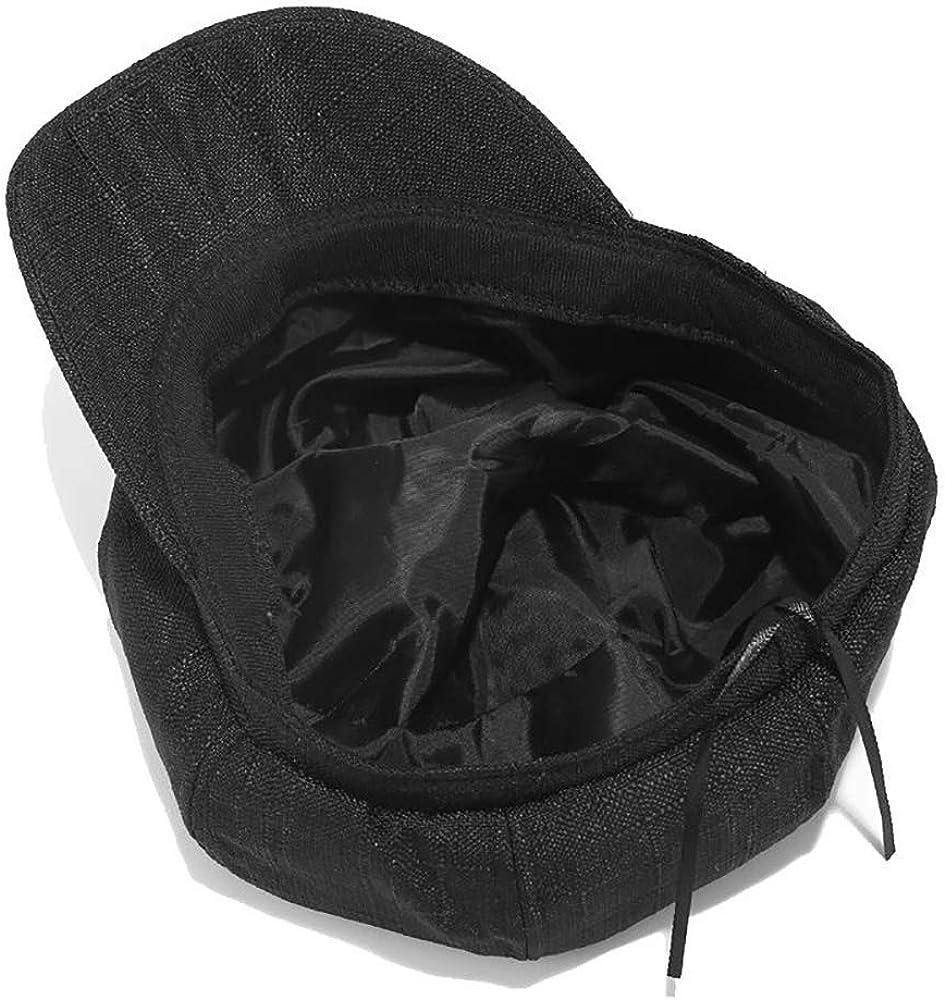 CHENNUO Womens Summer Cotton Linen Newsboy Berets Cabbie Flat Cap Baker boy Hat 8 Panel Cap