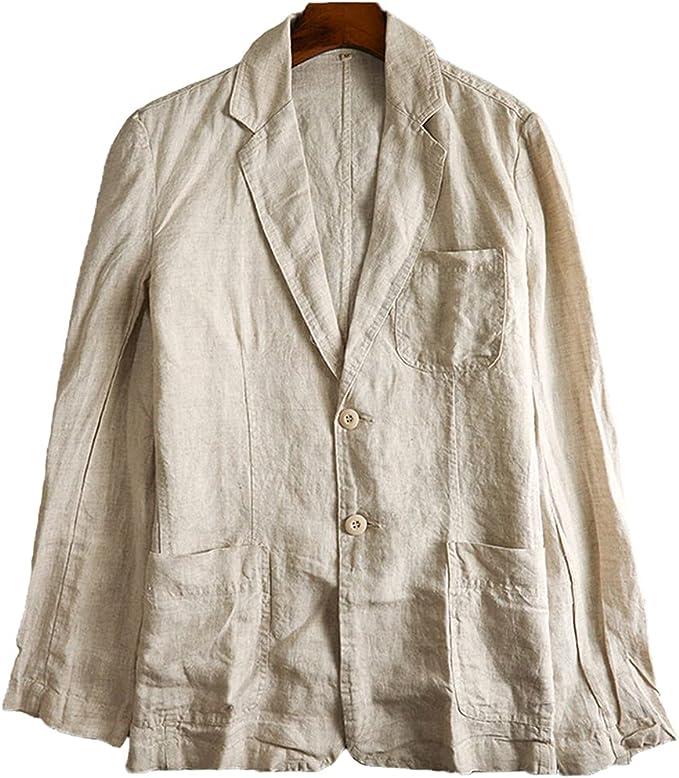 麻ジャケット サマージャケット テーラードジャケット リネンジャケット メンズ ジャケット 夏 大きいサイズ ビジネス 通気性 薄手 清涼感 高級感 シルエット 2ボタン仕様 パッチポケット 春