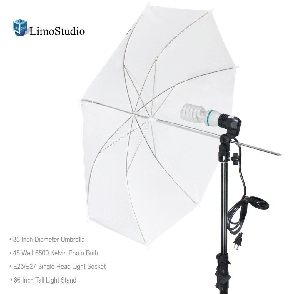 LimoStudio Photography White Photo Umbrella Light Lighting Kit, AGG1754