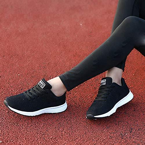Schwarz Sneaker FNKDOR Turnschuhe Damen Leichte Laufschuhe Freizeit Schuhe 0TxgO1wqf