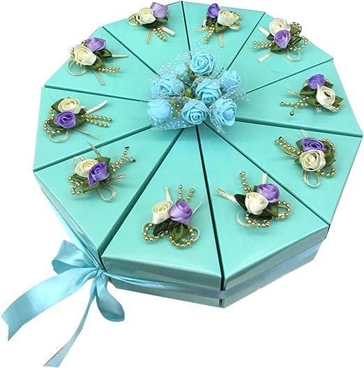 Meigold - Caja de regalo triangular para dulces, para bodas, galletas, chocolate, pasteles, pasteles, festivales, fiestas, 1 grupo: Amazon.es: Hogar
