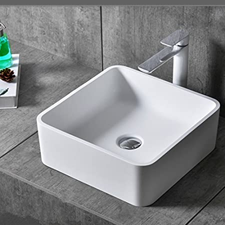 FELiCON® Bathroom Sink Countertop Basin Wash Basin Square Ceramic  Contemporary Shaped Bowl Top Modern Design