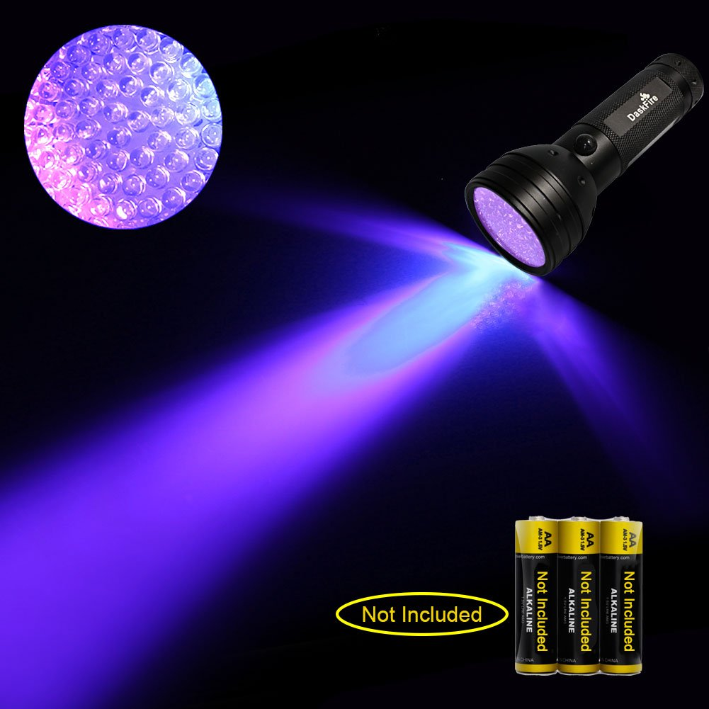 DaskFire Ultraviolet Flashlight, Blacklight Flashlight 51 LED UV Lights for Pet Dog Cat Urine Stain Detector or Bed Bugs Scorpions Home Hotel Pest Control Inspection by DaskFire (Image #7)