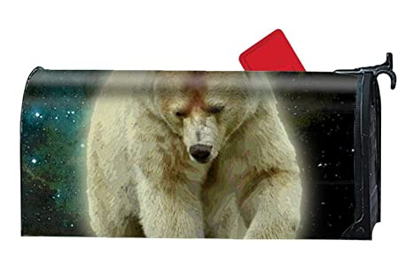 amazon com dhdfhdf spirit bear custom magnetic pvc mailbox cover