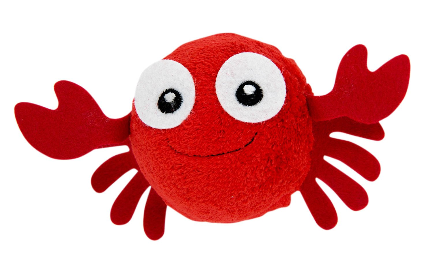 Couture Towel Sebastian Crab Animal Face Cotton Baby Towel, 13'' x 14'', Red