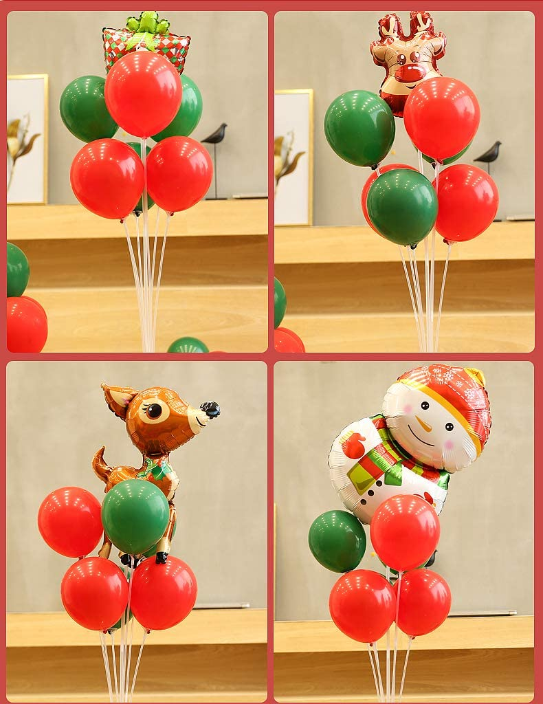 Balloon Tree with Plastic Stick for Wedding Birthday 2 Sets Balloon Sticks kit Garden Party and Celebration of The Great Balloon Accessories and Christmas Home Decoration