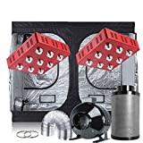"Oppolite Grow Tent Kit Complete Package 2XLED 1800W Grow Light + 8"" Carbon Filter Inline fan Ducting Combo + 120""x60""x80"" Grow Tent for Indoor Plant Growing (2XLED1800W+120""X60""X80""+8"" Kit)"