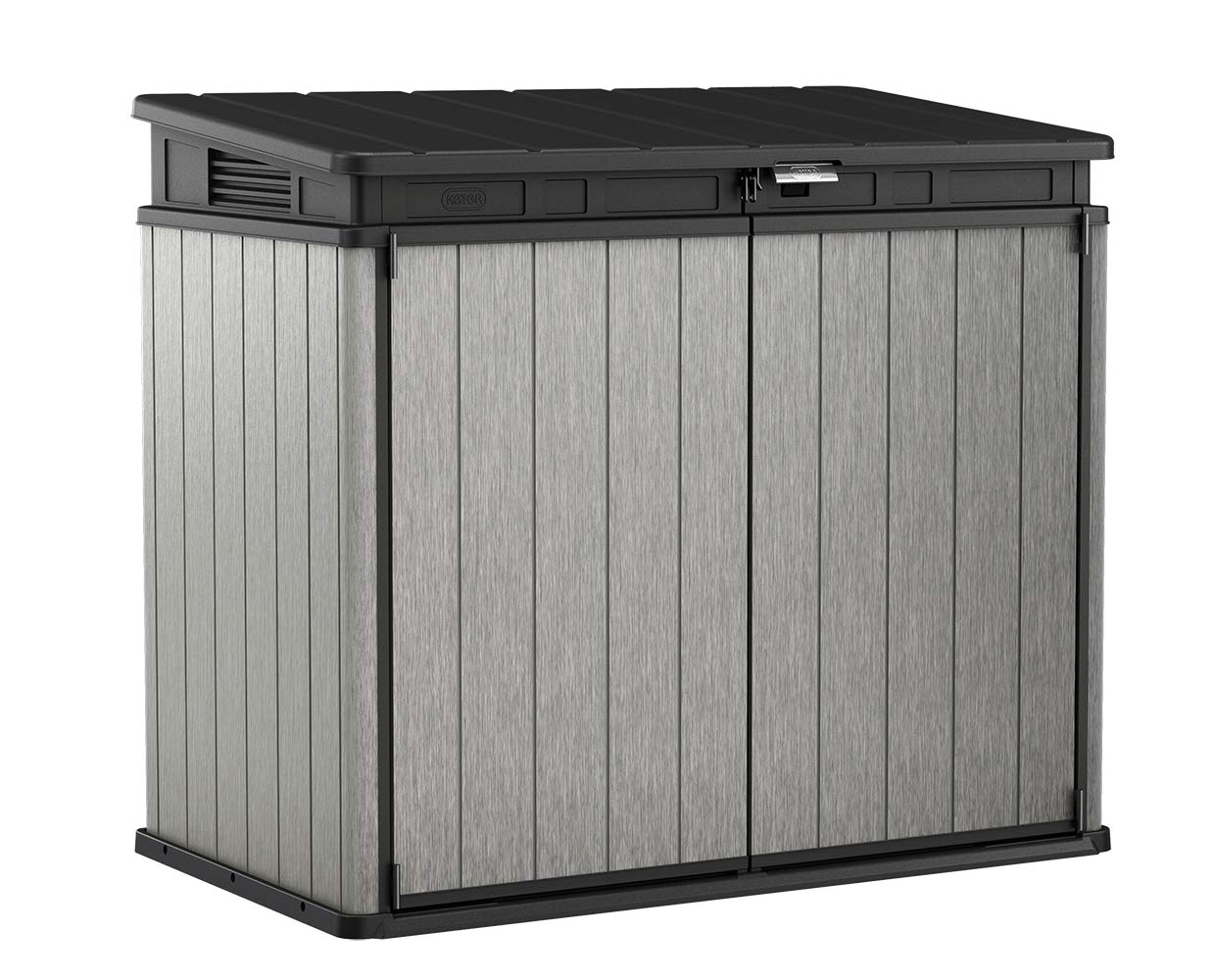 Keter 237831 Elite Outdoor Storage Shed, Grey/Black by Keter
