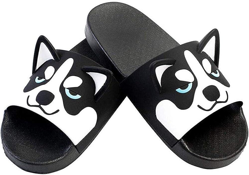 Cartoon Angry Ratel Print Summer Slide Slippers For Men Women Kid Indoor Open-Toe Sandal Shoes