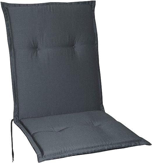 Schwar Textilien - Cojines para sillas de jardín, respaldo bajo, 5 colores, gris: Amazon.es: Jardín